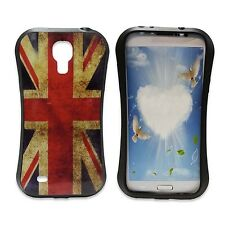 CUSTODIA COVER Vintage Union Jack Stampa GEL rigida per Samsung Galaxy S4 MINI