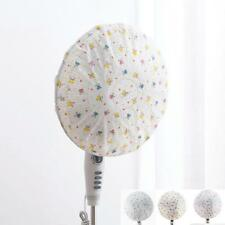 Home Geometric Leaf Electric Fan Round Anti-dust Cover Protection Cap DN