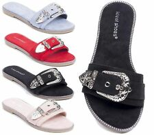 NEW LADIES SANDALS LOW HEEL HOLIDAY BEACH FLIP FLOP SUMMER SLIPPERS WOMENS SHOES