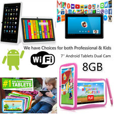 "⚡7"" Kids Android Tablet Wifi Dual Camera 8GB Quad Core 4.4 Touchscreen Bluetooth"