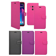 para HTC U11 Plus Libro De Cartera Abatible en varios colores FUNDA
