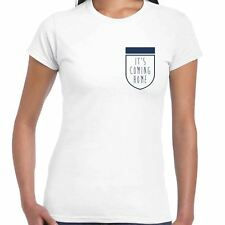 Its Coming Home Football Crest Ladies T Shirt - World Cup 2018 England