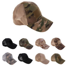 Adjustable Mesh Military Tactical Baseball Style Cap Hat One Size Fits Most