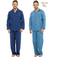 Mens Pyjamas Set Long Sleeve Top Bottom Nightwear Sleepwear Loungewear Plus Size