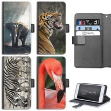 Zoo Animales Funda carcasa para iPhone 6,7, 8 Plus, x Tipo Cartera De Cuero