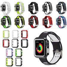 Replacement Sport Silicon Watch Band Strap Case For Apple Watch iWatch 38mm 42mm