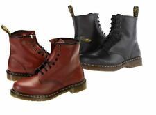 Dr Martens Boots Mens Smooth Winter Casual High Boots Black and Cherry Red