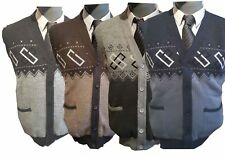 Sleeveless Mens Button Up Cardigans Smart Casual Wear Excellent Quality Colours