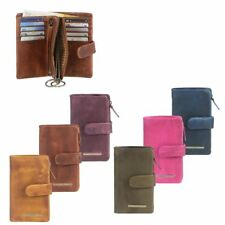 Cartera de Cuero con para Llaves 10 Casilas Tarjetas Monedero Greenburry