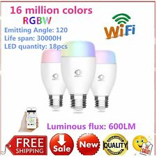 Intelligent LED Light E27 Dimmer Bulb Lamp Wireless Remote Control APP Timing&D