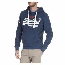 Superdry Mens Sweat Shirt Store Tri Hood Jumper Blue (M20002FN 92N)