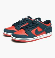 Nike Mens Zoom Dunk Low Pro Skate Trainers Teal/Red  (854866-336)