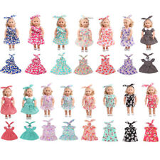 """Floral Dress Hair Band Summer Outfit for 18"""" American Girl Our Generation Dolls"""