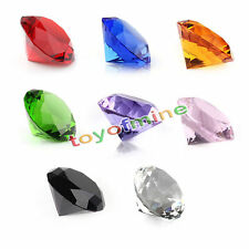 30mm Crystal Diamond Shape Paperweights Facet Jewel Wedding Gift 9 Colors