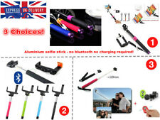 Wireless Wired Selfie Stick Bluetooth Universal iphone Android Samsung IOS timer