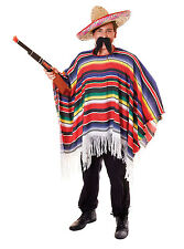 Costume Messicano SOMBRERO Poncho GRINGO BANDITO ADDIO AL CELIBATO DO