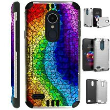 SILVER GUARD For LG Aristo / Stylo Phone Case Cover RAINBOW GLASS