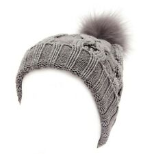 7874W cuffia donna WOOLRICH grey wool hat woman