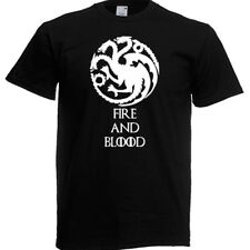 Game of Thrones Fire and Blood T-shirt  AGE 3 - XXL Also GLOW IN DARK *.*.