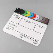 New Colorful Clapperboard TV Acrylic Movie Action Slate Stick Handmade 1367