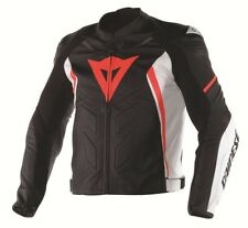 Giacca In Pelle Racing Dainese Avro D1 Nero/Bianco/RossoFluo