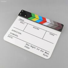 New Colorful Clapperboard TV Acrylic Movie Action Slate Stick Handmade 5FE7