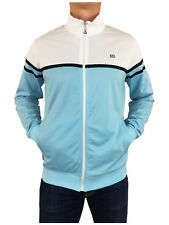 Weekend Offender Mens Steinbeck SPSS1801 Sports Retro Track Top in Sky