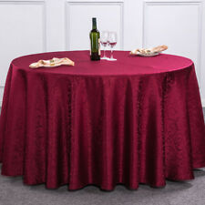 Housse Nappe Tissu Table Luxe Polyester Oilproof Mariage Fête Restaurant