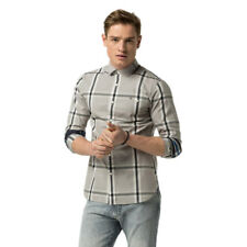CHEMISE TOMMY HILFIGER STRETCH CHECK SLIM FIT GRIS HOMME
