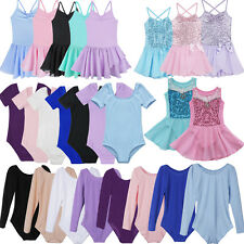 Girls Kids Tutu Ballet Leotard Dance Dress Ballerina Fairy Gymnastics Costume