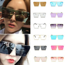 Women Oversized Square Sunglass Outdoor Goggles Eye Protection Clear Lens Beauty