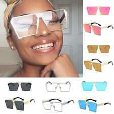 AACF 2017 Women Steampunk Oversized Square Sunglass Outdoor Goggles Accessory