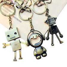 CF5A Vintage Leaf Robot Shape Key Chain Keychain Key Ring Idea For Car Decor