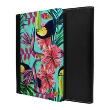 Tropical Aves Flores Azules Paraíso Funda Libro para Apple Ipad - S712