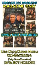 Stargate SG 1 Magazine Collection (DVDs NOT INCLUDED) - Various Issues - Used