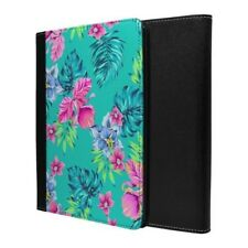 Tropical Rosa Flores Azules Funda Libro para Apple Ipad - S763