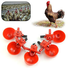 5Pcs Automatic Bird Coop Feed Poultry Water Drinking Cups Plastic Chicken Fowl..