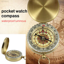 Portable Compass Brass Pocket Watch Style Camping Hiking Navigation Practical