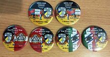 Alle European Cup Match Play-Pins MOTOR & CARL ZEISS JENA  DDR 1961 -1988 set 12