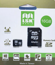 MicroSD 16Gb with SD Adapter High Capacity Memory for Cameras and Phones