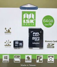 MicroSD 64Gb with SD Adapter High Capacity Memory for Cameras and Phones Class10