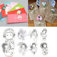 9E31 Decoration Stamp Seal Eco-Friendly Arts Girl Cards DIY Scrapbooking