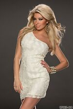 Party Club Wear Cocktail High Quality One Shoulder Mini Dress UK size 8-10