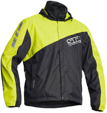 Lindstrands Negro Wp Impermeable Moto Cubierta Chaqueta Amarillo