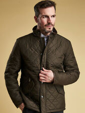 Barbour International Mens Powell Quilted Jacket in Olive