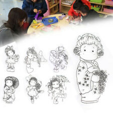 Girl Decoration Stamp Seal Cards Transparent Gift Photo Silicone