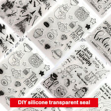 DIY Stamp Silicone Stamp Embossing Silicone Photo Decorating Rubber Stamp Clear