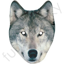 Wolf Animal Card Mask - Masks Are Fully Cut - Large Discounts For Big Orders