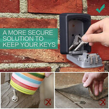 4-Digit Outdoor High Security Wall Mounted Key Safe Box Code Secure Lock-Storage