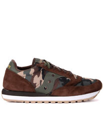 Sneaker Saucony Jazz in suede marrone e tessuto camouflage